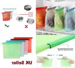 1 Litre,1.5 Litre Silicone Food Storage Bag Freezer Reusable
