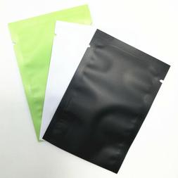 100X Heat Seal 3 Color Matte Aluminum Foil Bags Mylar Food P
