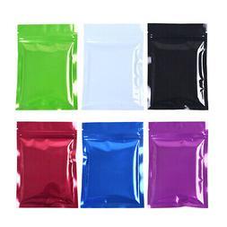 100X Heat Seal Colors Matte Aluminum Foil Bags Mylar Food St