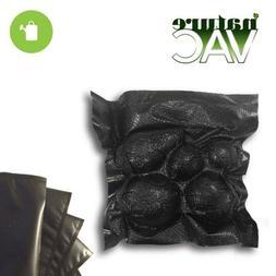 NatureVAC 11 in. x 24 in. Precut Vacuum Sealer Bags ALL BLAC