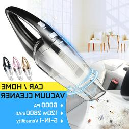110-220V CORDLESS Car Vacuum Cleaner 120W Auto Portable Wet