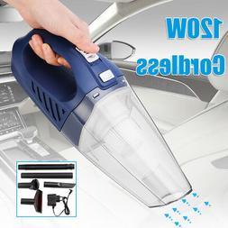120W Portable Car Cordless Vacuum Cleaner Low Noise Wet Dry
