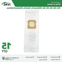 ZVac 15Pk Compatible Vacuum Bags Replacement for All Kirby G