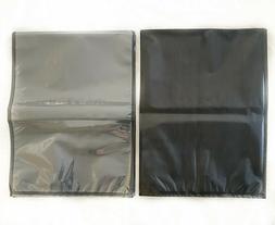 15x20 Precut Clear/Black 50pk VACUUM SEAL BAGS 4mil Thick