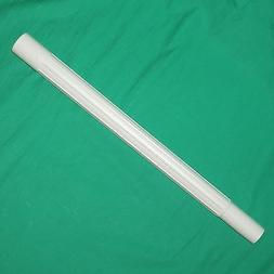 """19"""" White Plastic Vacuum Wand Tube Fit All 1.25"""" Tool Attach"""