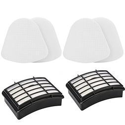 2 HEPA Filter + 2 Foam Flet Filter Kit for Shark Navigator L