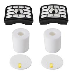 2 HEPA Filter + 2 Foam Flet Filter Kit for Shark Rotator Pro