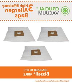 Crucial Vacuum Replacement Vacuum Bags  Compatible with Biss