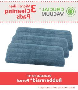 3 REPL Rubbermaid 1M19 Reveal Wet Mop Microfiber Washable &