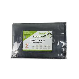 50 QUART 8x12 Black Vacuum Seal Bags FoodSaver compatible Em