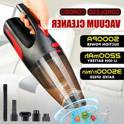 5000Pa Car Vacuum Cleaner 120W Strong Suction Portable Handh