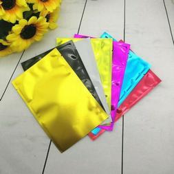 50x Colorful Aluminum Foil Pouch Packing Bag Food Vacuum Bag