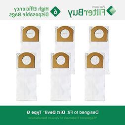 6 - FilterBuy Dirt Devil Type G Replacement Vacuum Bags, Par