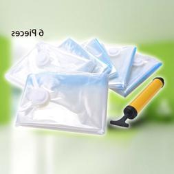 6 Jumbo Large Vacuum Seal Storage Bags Garment Space Saver C