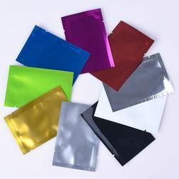 8 Colors Heat Seal Aluminum Foil Bags Mylar Food Storage Vac