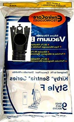 9 F Style Microfiltration Vacuum Bags for Kirby Sentria I &