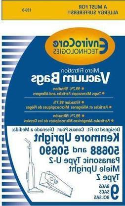 Kenmore 50688 or 50690 Style U Vacuum Cleaner Bags - Generic