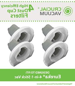 Think Crucial 4 Replacements for Eureka 4-in-1 Stick Vac Fil