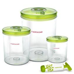 Vacucraft Airtight Food Storage Containers, 4 Pack, BPA Free