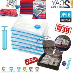 Vacuum Storage Bags Seal Space Saver Hoover Compression Clot