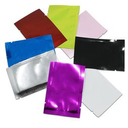 100Pcs Open Top Colorful Heat Seal Food Aluminum Foil Bags M