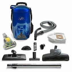 GV Blue 8 Qt Quart Light Powerful HEPA Backpack Vacuum Blowe
