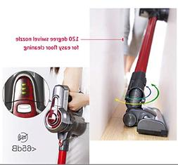 Dibea C17 Upright Wireless Vacuum Cleaner, 2 in 1 Cordless S