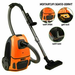 Ovente Canister Vacuum 1400 W with Energy Saving Speed Contr