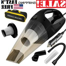 Car Vacuum Cleaner Wet & Dry 120W,High Power Hand Vacuum For