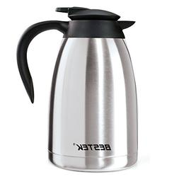 BESTEK Coffee Carafe With Press Button Double Wall Vacuum In