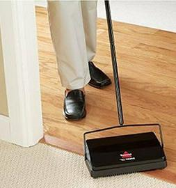 Cordless Floor Sweeper Manual Vacuum Cleaning Carpet Hardwoo