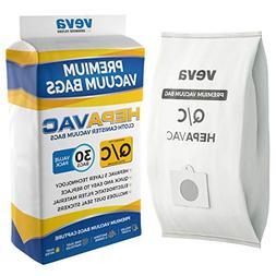 VEVA 30 Pack Premium HEPA Vacuum Bags Type Q Cloth Bag Compa