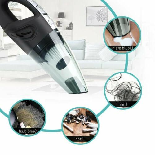 120W Wet Dry Vacuum Car Handheld Rechargeable Home Pet Hair