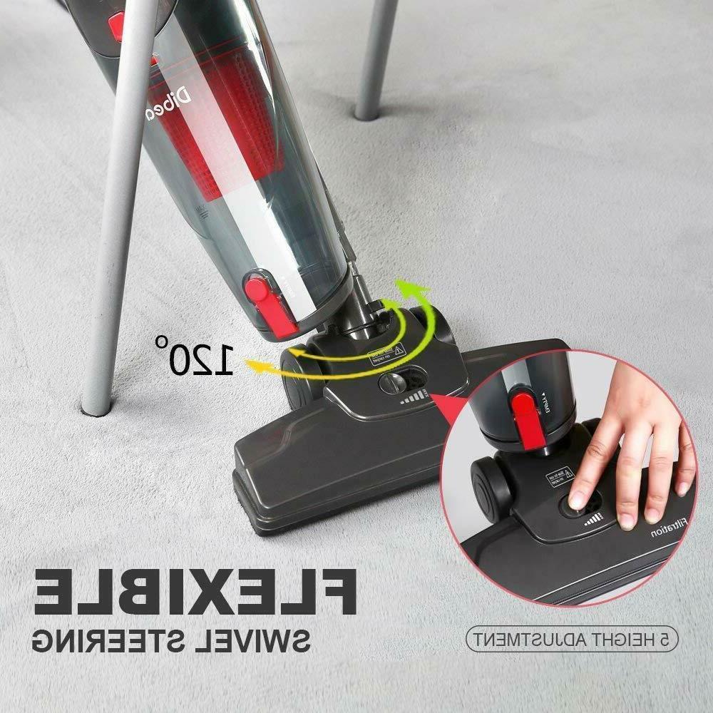 Dibea 2-in-1 Upright Stick Handheld Cleaner 15Kpa