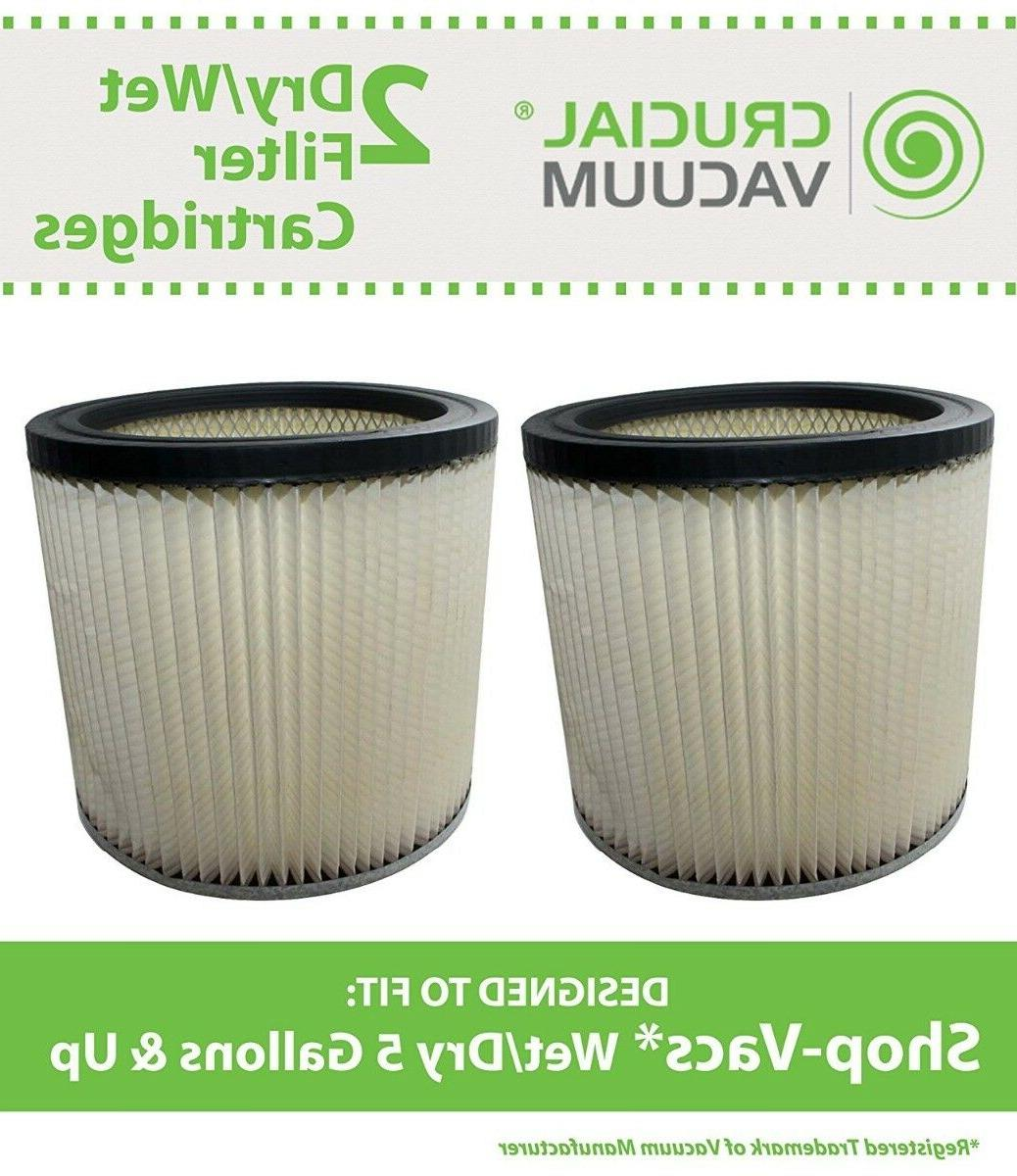 2 replacement shopvac dry wet cartridge filter