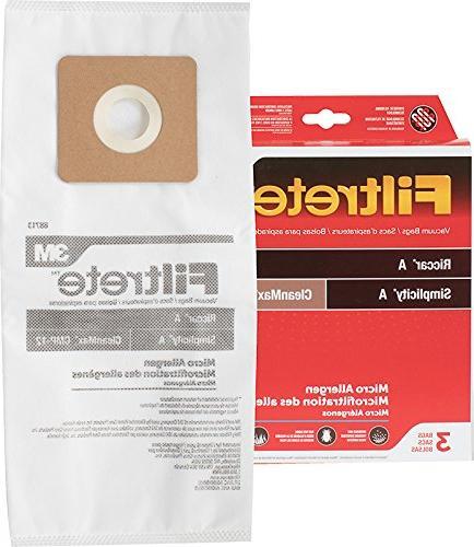 3M Filtrete Riccar/Simplicity A Synthetic Vacuum Bag - 3 bag