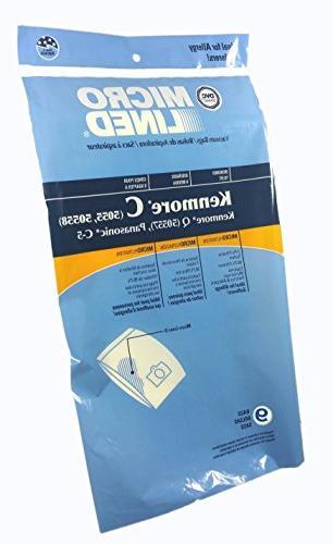 9 Vacuum Cleaner Bags for Sears Kenmore 5055 50557 50558 Pan