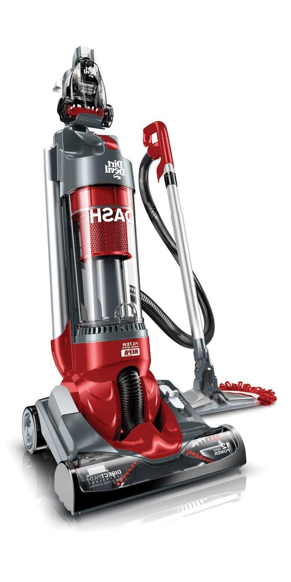Dirt Devil - Dash Bagless Upright Vacuum - Red/gray