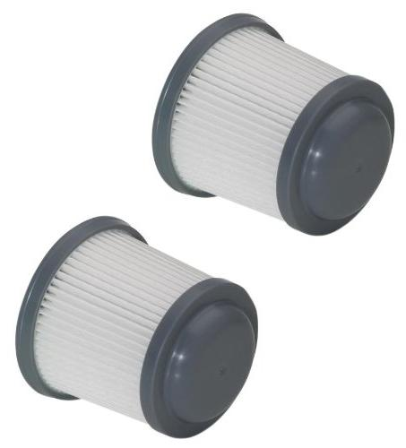 Black & Replacement Filter, Pack of 2