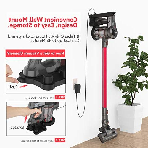 Cordless Vacuum, Stick Vacuum Cleaner, Powerful Lightweight Rechargeable Ion