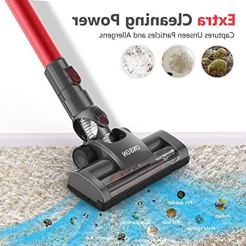 Cordless Vacuum Cleaner, Powerful Lightweight Handheld Vacuum with Rechargeable Lithium Ion