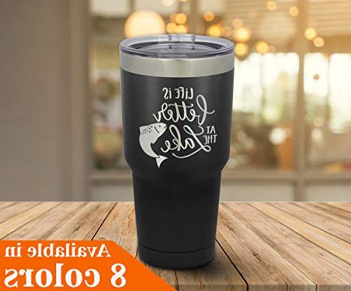 LIFE THE 30 oz With Straw Lid | Stainless Travel Mug To Yeti OnlyGifts.com