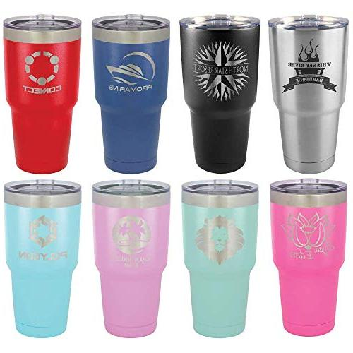 LIFE IS AT THE LAKE 30 Straw Slide Top Lid | Stainless Steel Travel Mug To Yeti OnlyGifts.com