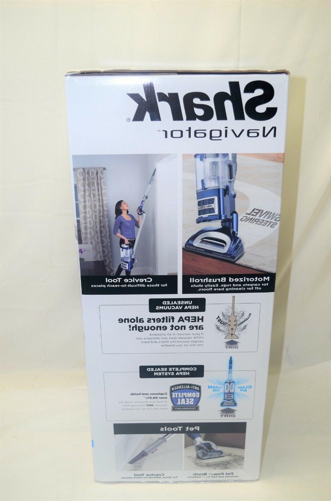SharkNinja Lift-Away Deluxe NV360 Upright Vacuum, Blue