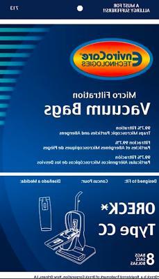 Oreck Vacuum Bags Type CC *Fits Oreck XL Upright Vacuums Rep