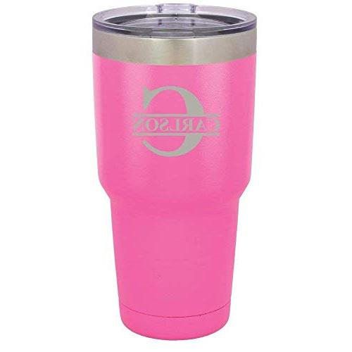 Personalized 30 oz Tumbler With Straw Initial with | Compare Letter Custom