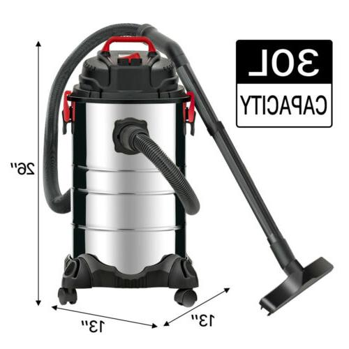 Portable 8 Wet Dry Cleaner Vac Stainless Steel