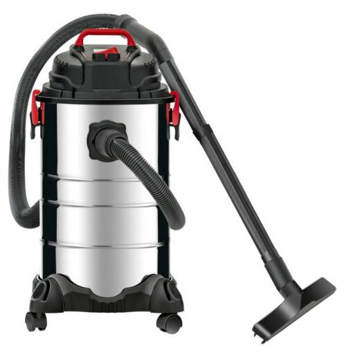 Portable Gallon Wet Vacuum Cleaner Vac 3.5 HP Stainless Steel