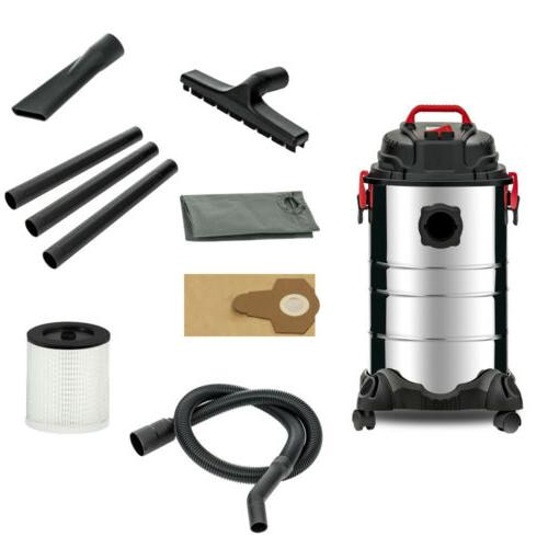 Portable 8 Gallon Wet Vac Stainless