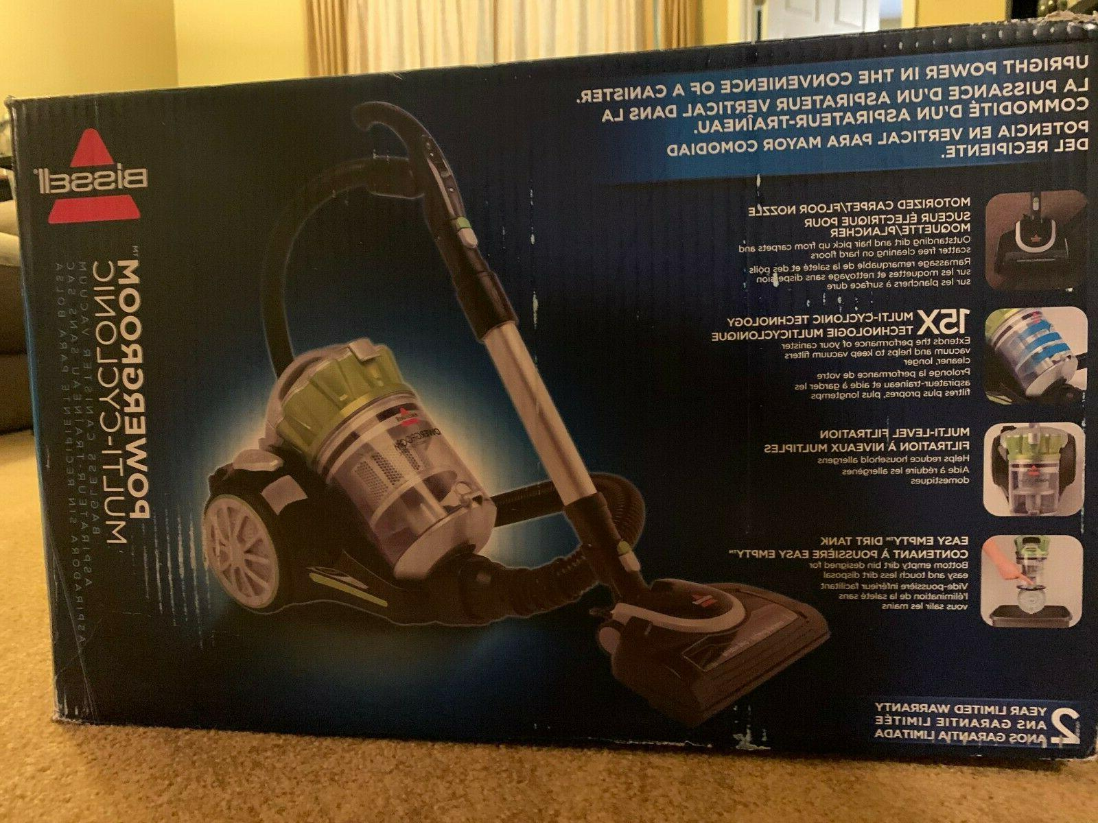powergroom multicyclonic bagless canister vacuum
